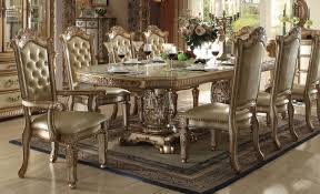 Gold Dining Room Chairs Vendome Dining Table Gold By Acme