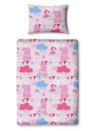 Peppa Pig Duvet Cover 100 Cotton Pig Tweet 4 In 1 Junior Bedding Bundle Set Bedroom
