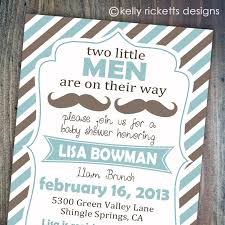 Elegant Baby Shower Ideas by Twin Baby Boy Shower Invitations Theruntime Com