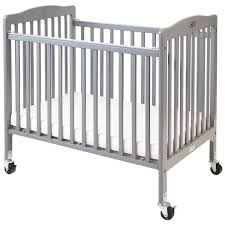 Mini Folding Crib L A Baby Cw 883a The Wood Crib 24 X 38 Gray Mini