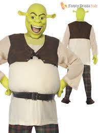 Shrek Halloween Costumes Adults Shrek Mens Costume Mask Fairytale Ogre Movie Film Fancy