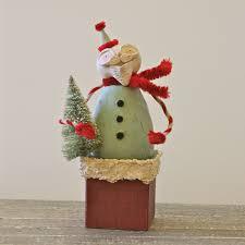 santa christmas folk art santa claus decoration art paper