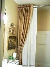Designer Shower Curtain Decorating Designer Shower Curtain Ideas Luxury Bathrooms With Shower