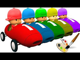 learn colors talking pocoyo cars painting colours songs