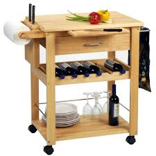 get practical and movable carts with butcher blocks on wheels butcher block idea with wheels and wine rack