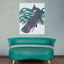 under the sea ocean theme art for decorating a baby nursery or kids ro