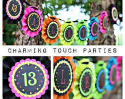 glow in the party ideas for teenagers 80s etsy