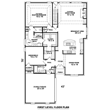 colonial style house plan 4 beds 3 00 baths 2722 sq ft plan 81 1525