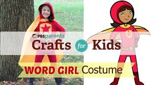 no sew wordgirl costume crafts for kids pbs parents youtube