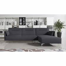 casa rixton modern grey fabric sofa bed sectional