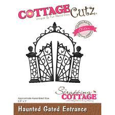 halloween dies cottage cutz die haunted gate entrance