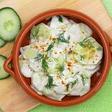 cuisiner concombre recette concombre à la crème fraîche et à la ciboulette