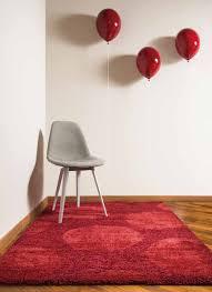 tappeto moderno rosso tappeto moderno con motivo a cerchi azalea rosso 120x170 cm