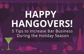 5 tips to increase bar business during the holidays