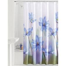 Fabric Stall Shower Curtain Mainstays Photoreal Flower Fabric Shower Curtain Walmart Com