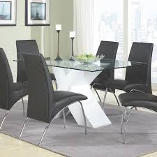 Contemporary Dining Room Tables Amazon Com Coaster Home Furnishings 120821 Contemporary Glass Top