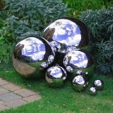 how to make mirrored gazing balls for the garden gardens gloves
