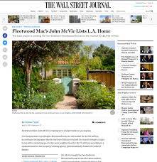 Brentwood Home Page by Marcie Hartley Lists Fleetwood Mac U0027s John Mcvie U0027s L A Home