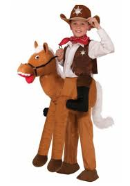 Cowboy Halloween Costume Child Ride Horse Costume Halloween Costumes Kids