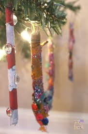 painted twig icicle ornaments for school time