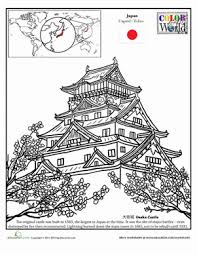 irish castle coloring page osaka castle worksheet education com