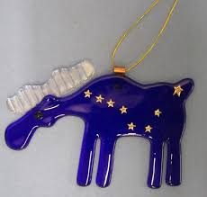 ornaments once in a blue moose alaskan gifts