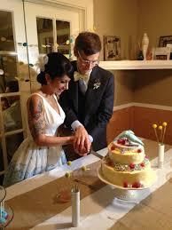 homemade wedding cake dinner with weijia