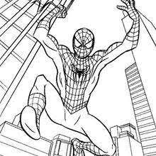 spiderman u0027s big jump coloring super heroes coloring pages