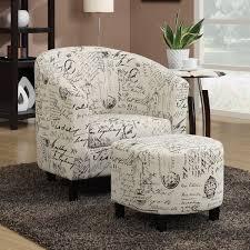 charlton home emory barrel chair and ottoman u0026 reviews wayfair