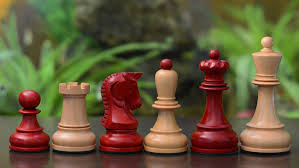 Buy Chess Set by Dubrovnik Chess Set Buy 1950 Dubrovnik Chess Pieces In Crimson