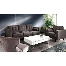 Diamond Sofa NEPTUNESOGR Neptune Sofa In Grey Fabric With Tufted - Sofa bolster cushions