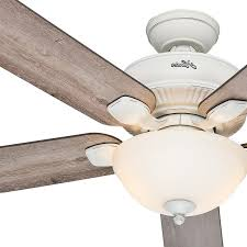 White Outdoor Ceiling Fan With Light Ceiling Fan Light Kit 52 Cottage White Outdoor With Grey