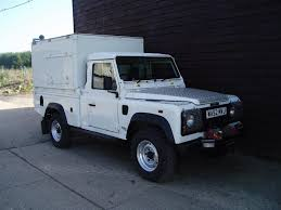 land rover water land rover defender 110 td5 high cap box truck 52 reg multipurpose