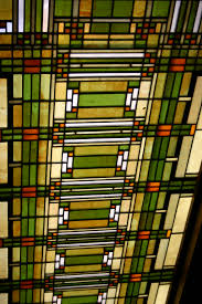 light grille in entry of studio 1898 frank lloyd wright home