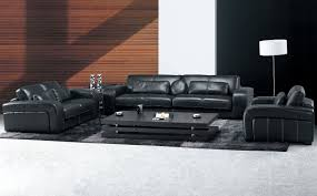 Modern Black Leather Sofas Furniture Unique Leather Furniture Complete Your Home Spaces
