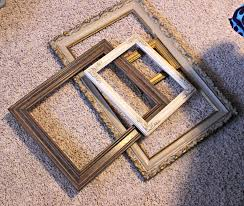 organized clutter repurposed thrift shop picture frame christmas tree