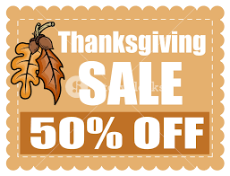 thanksgiving day sale coupon banner royalty free stock image
