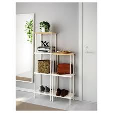 dynan shelf unit white bamboo pattern 80x27x96 136 cm ikea
