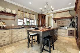 grey marble kitchen island marble floor black chair cream kitchen