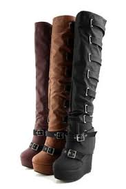 s boots with buckles knee high platform boots with buckles lace up inch stiletto heel