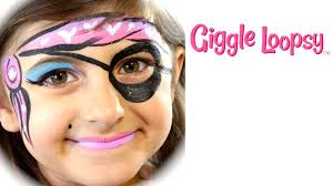 one stroke pirate face paint tutorial by giggle loopsy youtube