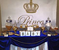 royal prince baby shower white baby showers blue gold and royal blue