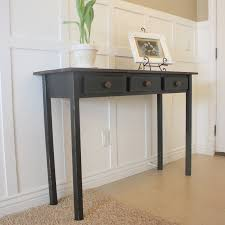 Entrance Way Tables Country Girl Home Entry Table 2 Black Distressed U0026 Tutorial