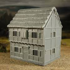 Two Story Workshop Tabletop Workshop 28mm Hard Plastic Medieval 2 Story Merchant U0027s House