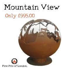 Fire Pit Globe by Deep Forest 900mm Metal Fire Sphere Laser Cut Fire Pits