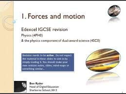 forces and motion revision podcast edexcel igcse physics topic 1