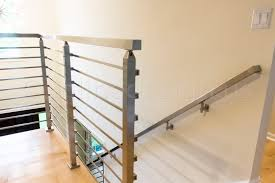 ben il modern stainless steel cable and glass railing inline
