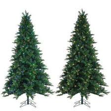 white pre lit christmas tree with colored lights 7 5 ft multiple colors pre lit christmas trees artificial
