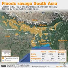 Map Of India And Nepal by South Asia Floods Affected Areas And People Impacted Al Jazeera