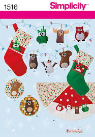 simplicity 1516 felt ornaments wall hangings and tree skirt